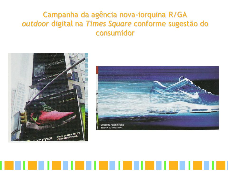 Campanha da agência nova-iorquina R/GA outdoor digital na Times Square conforme sugestão do consumidor