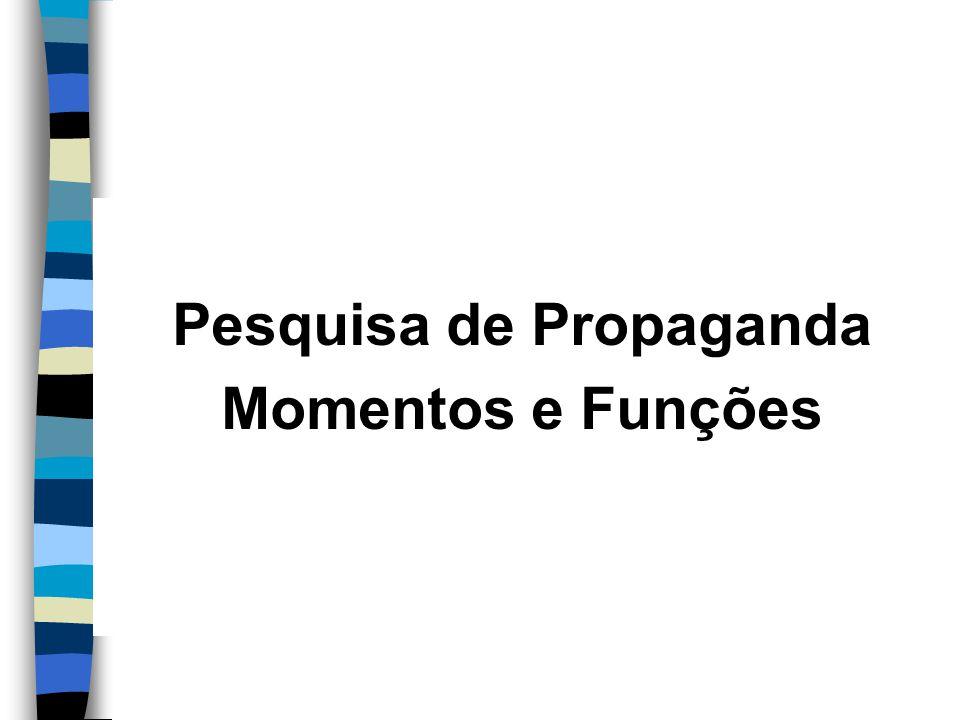 Pesquisa de Propaganda Momentos e Funções