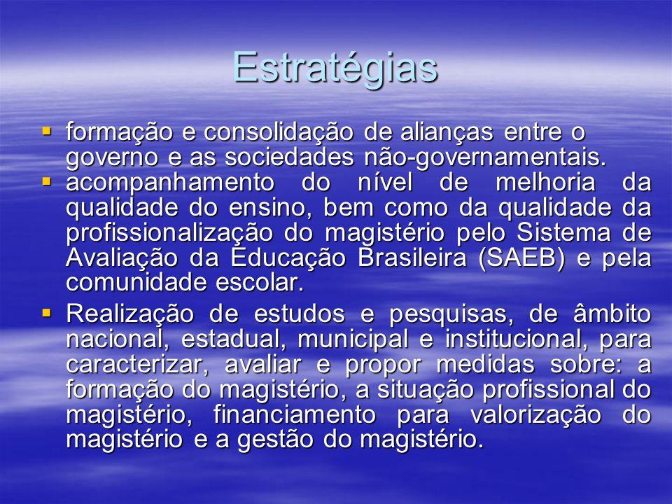 Estratégias formação e consolidação de alianças entre o governo e as sociedades não-governamentais. formação e consolidação de alianças entre o govern