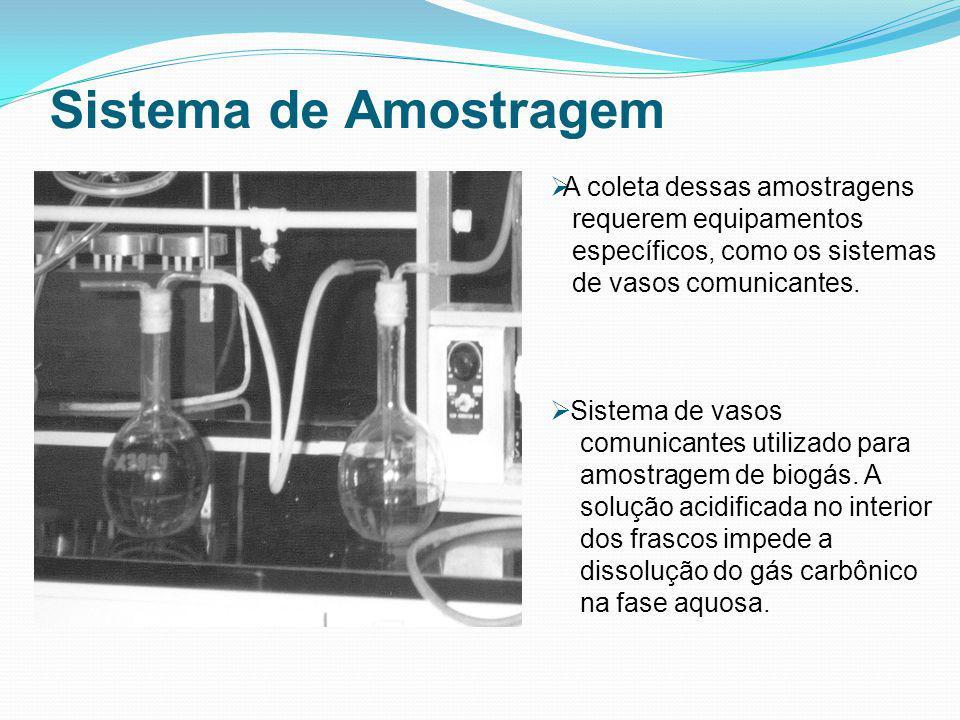 Sistema de Amostragem A coleta dessas amostragens requerem equipamentos específicos, como os sistemas de vasos comunicantes. Sistema de vasos comunica