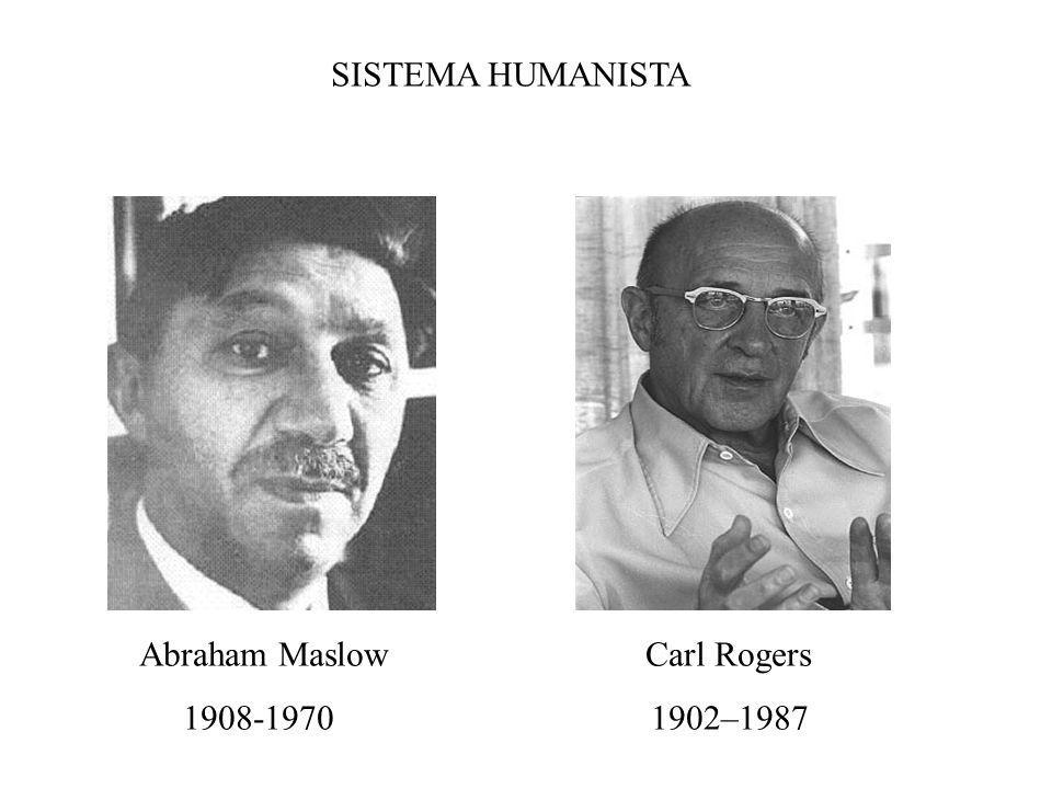 SISTEMA HUMANISTA Abraham Maslow Carl Rogers 1908-1970 1902–1987