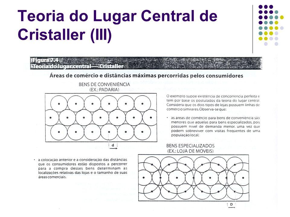 Teoria do Lugar Central de Cristaller (III)