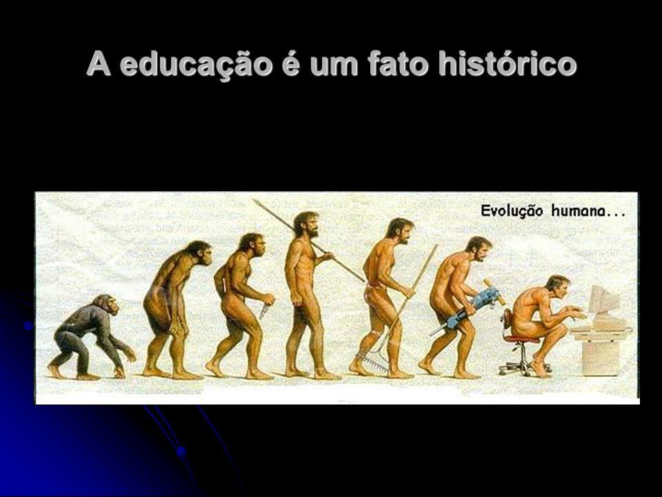 A educação é um fato existencial Refere-se ao modo como o homem se faz homem.