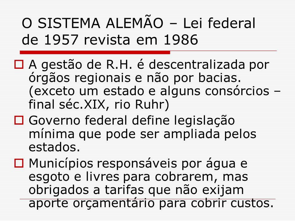 O SISTEMA ALEMÃO – Lei federal de 1957 revista em 1986 A gestão de R.H.