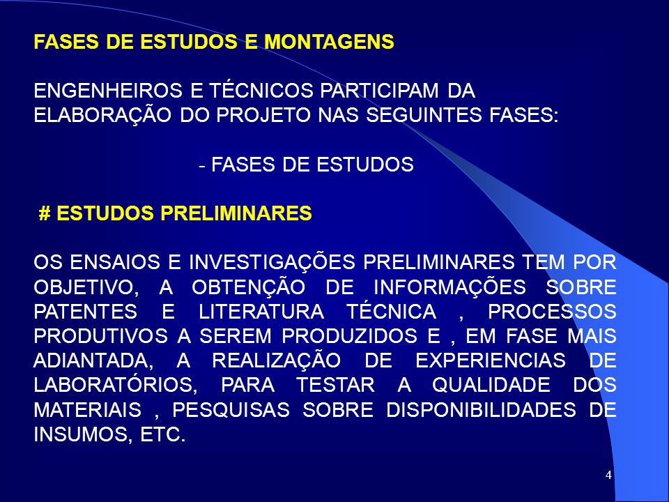 15 O PROJETO DE ENGENHARIA, DE POSSE DE UMA ESTIMATIVA DO MONTANTE GLOBAL DOS INVESTIMENTOS DO PROJETO, DEVE INCLUIR TAMBÉM UMA PREVISÃO DA DISTRIBUIÇÃO DESSES INVESTIMENTOS NO TEMPO, SOB A FORMA DE UM CRONOGRAMA FISICO-FINANCEIRO, ESSENCIAL PARA A MONTAGEM DO ESQUEMA DE FINANCIAMENTO DO PROJETO.