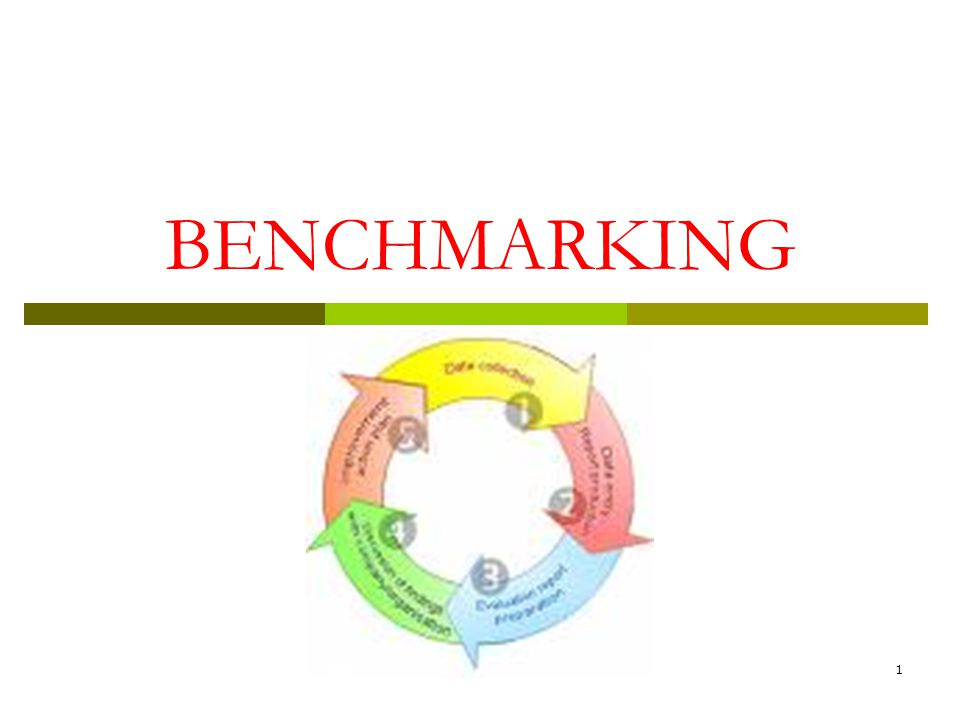 1 BENCHMARKING