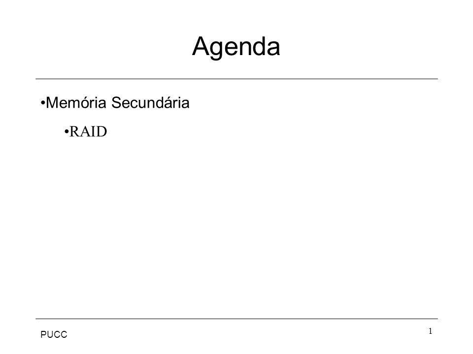 PUCC 1 Agenda Memória Secundária RAID