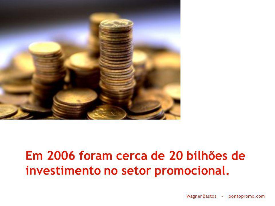 Em 2006 foram cerca de 20 bilhões de investimento no setor promocional. Wagner Bastos – pontopromo.com