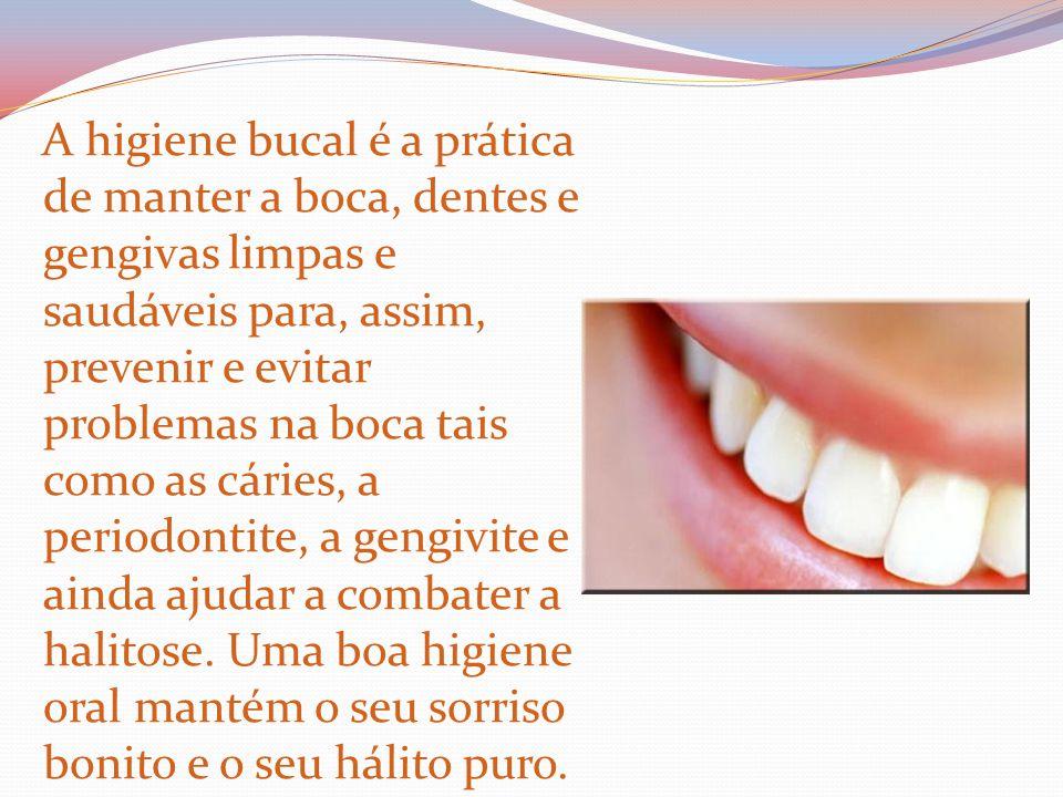 A higiene bucal é a prática de manter a boca, dentes e gengivas limpas e saudáveis para, assim, prevenir e evitar problemas na boca tais como as cárie