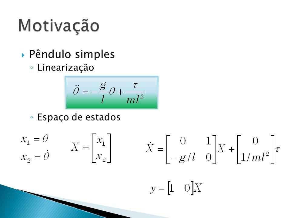 Pêndulo simples Linearização Espaço de estados