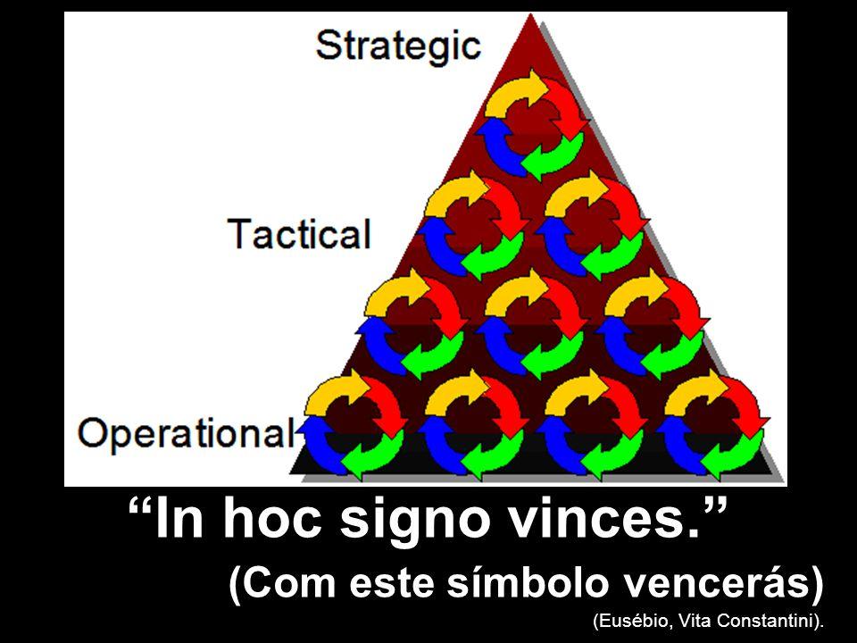 In hoc signo vinces. (Com este símbolo vencerás) (Eusébio, Vita Constantini).