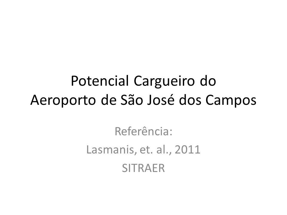 Potencial Cargueiro do Aeroporto de São José dos Campos Referência: Lasmanis, et. al., 2011 SITRAER