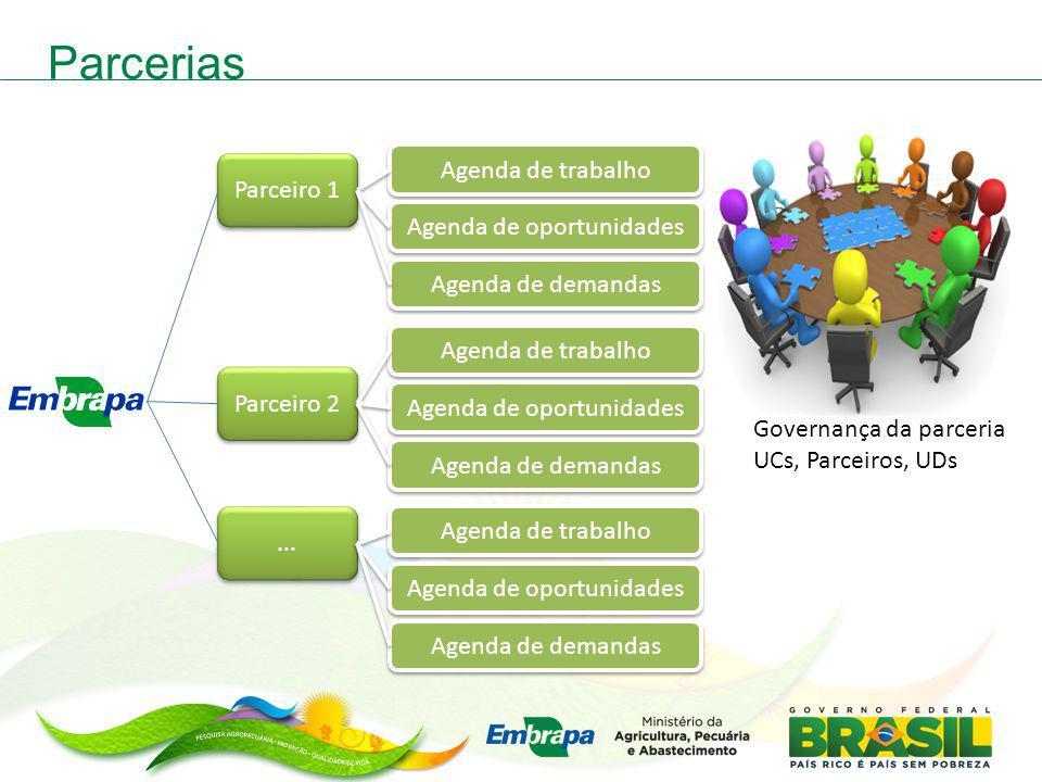 Parceiro 1 Parceiro 2... Agenda de trabalho Agenda de oportunidades Agenda de demandas Agenda de trabalho Agenda de oportunidades Agenda de demandas A