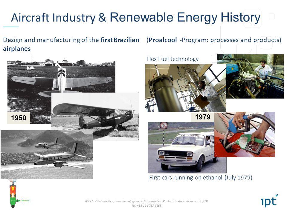 IPT - Instituto de Pesquisas Tecnológicas do Estado de São Paulo – Diretoria de inovação / DI Tel: +55 11 3767-4466 1979 1950 Aircraft Industry & Rene
