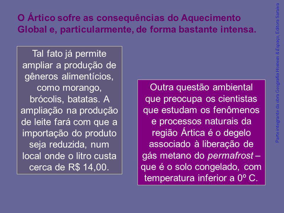 Parte integrante da obra Geografia Homem & Espaço, Editora Saraiva Outra questão ambiental que preocupa os cientistas que estudam os fenômenos e proce