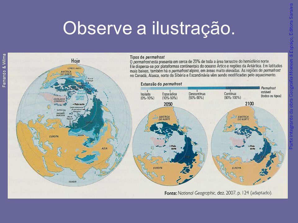 Parte integrante da obra Geografia Homem & Espaço, Editora Saraiva Observe a ilustração. Fernando & Wilma