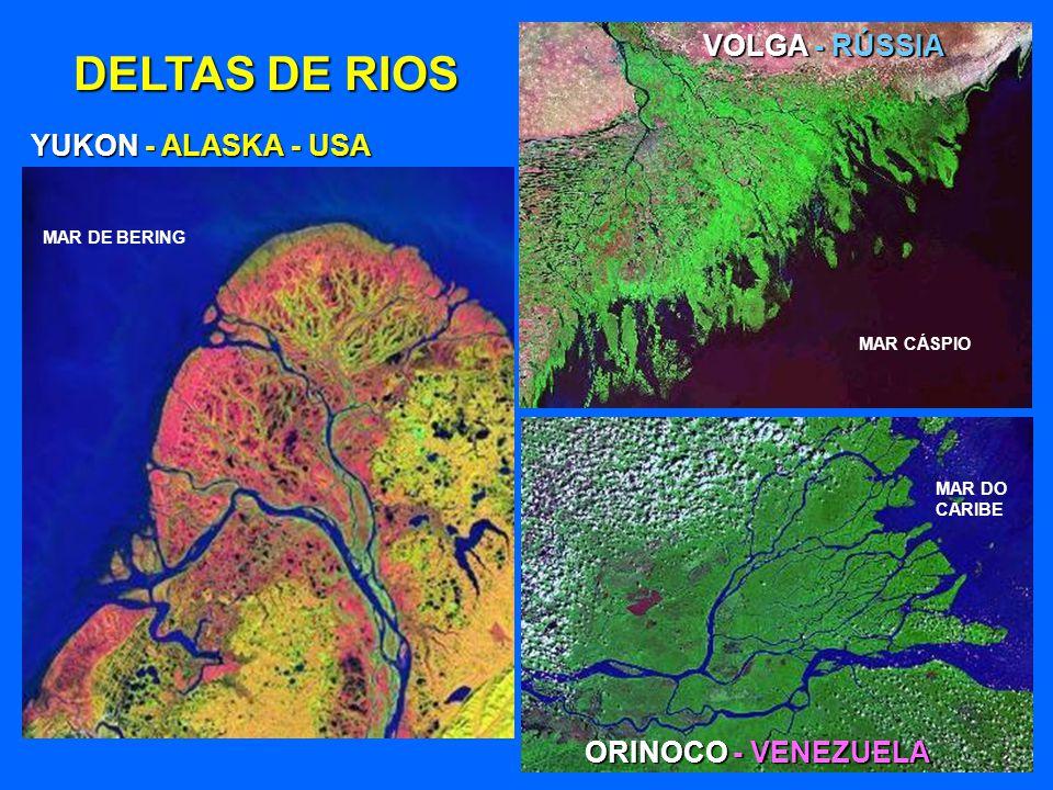 DELTAS DE RIOS LENA - RÚSSIA OCEANO ÁRTICO NILO - EGITO MAR MEDITERRÂNEO CANAL DE SUEZ MAR VERMELHO GANGES, ÍNDIA E BANGLADESH OCEANO ÍNDICO