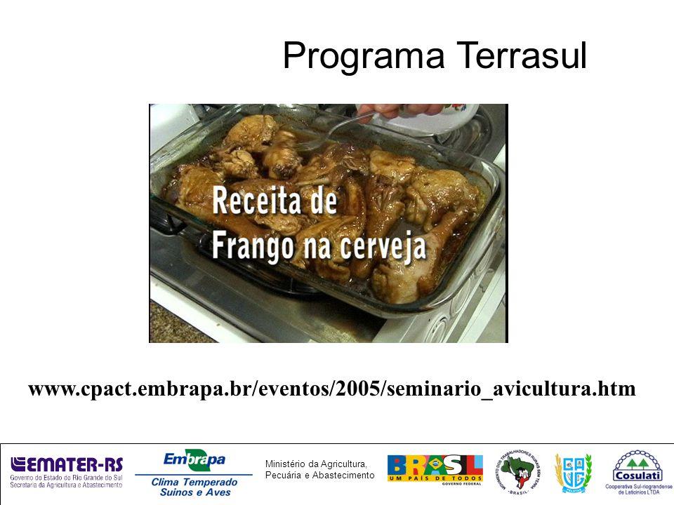 Programa Terrasul www.cpact.embrapa.br/eventos/2005/seminario_avicultura.htm