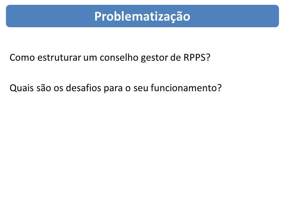 Como estruturar um conselho gestor de RPPS? Quais são os desafios para o seu funcionamento? Problematização