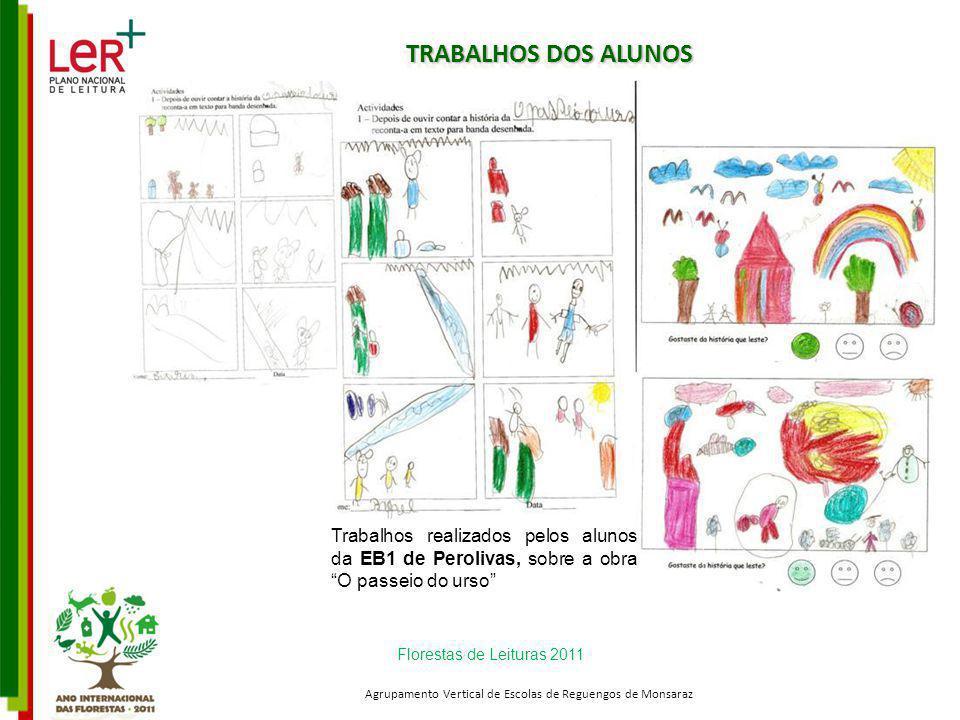 TRABALHOS DOS ALUNOS Florestas de Leituras 2011 Agrupamento Vertical de Escolas de Reguengos de Monsaraz Trabalhos realizados pelos alunos da EB1 de P