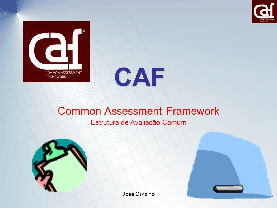 José Orvalho1 CAF Common Assessment Framework Estrutura de Avaliação Comum