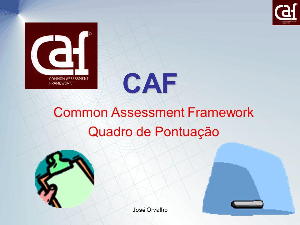 José Orvalho34 CAF Common Assessment Framework Quadro de Pontuação