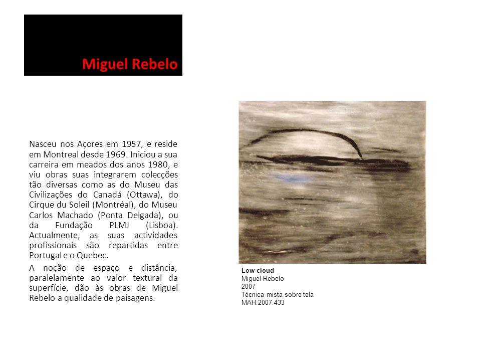 Miguel Rebelo Nasceu nos Açores em 1957, e reside em Montreal desde 1969. Iniciou a sua carreira em meados dos anos 1980, e viu obras suas integrarem