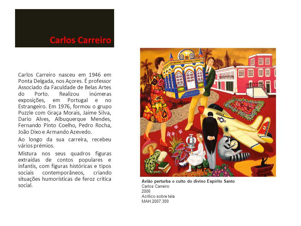 Carlos Carreiro Carlos Carreiro nasceu em 1946 em Ponta Delgada, nos Açores. É professor Associado da Faculdade de Belas Artes do Porto. Realizou inúm