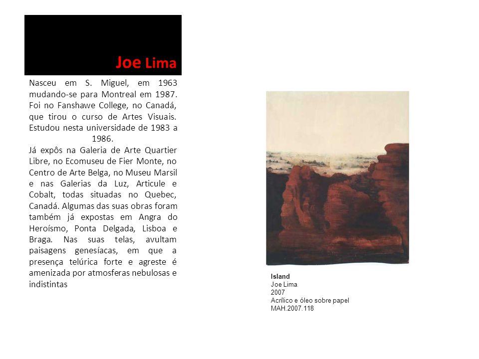 Joe Lima Nasceu em S. Miguel, em 1963 mudando-se para Montreal em 1987. Foi no Fanshawe College, no Canadá, que tirou o curso de Artes Visuais. Estudo