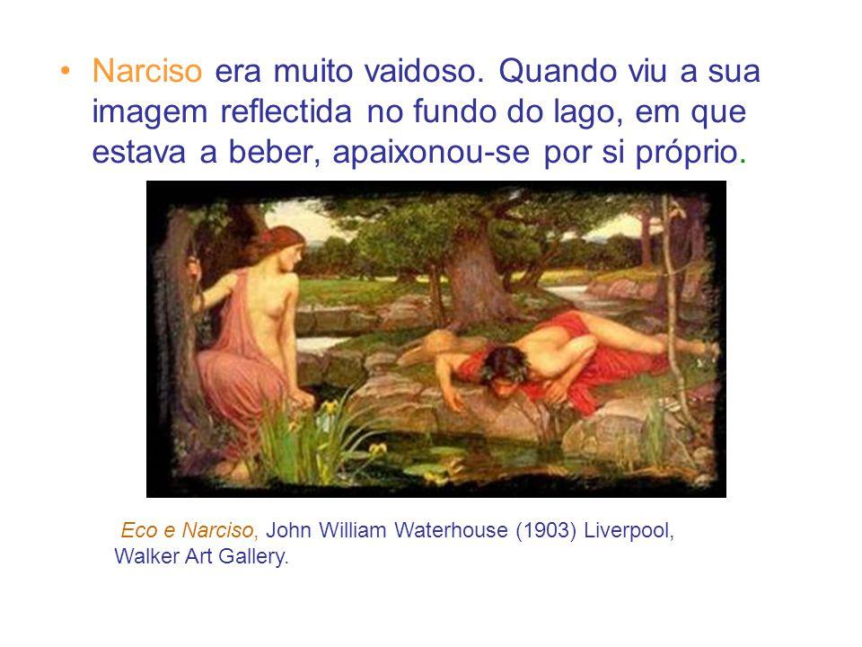 Narciso era muito vaidoso.