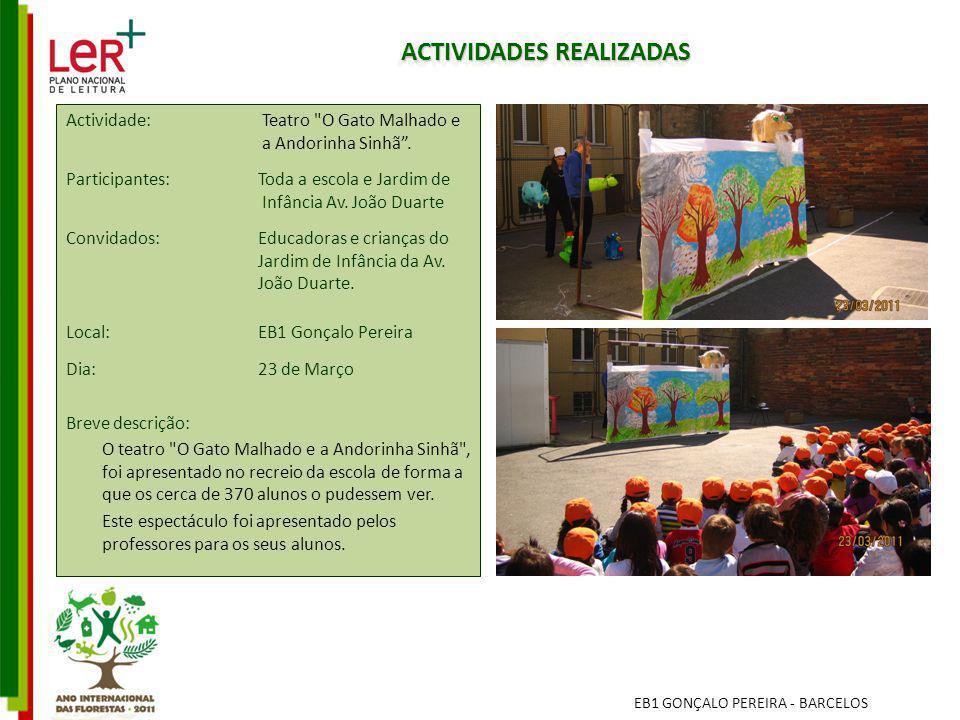 ACTIVIDADES REALIZADAS Actividade: Teatro