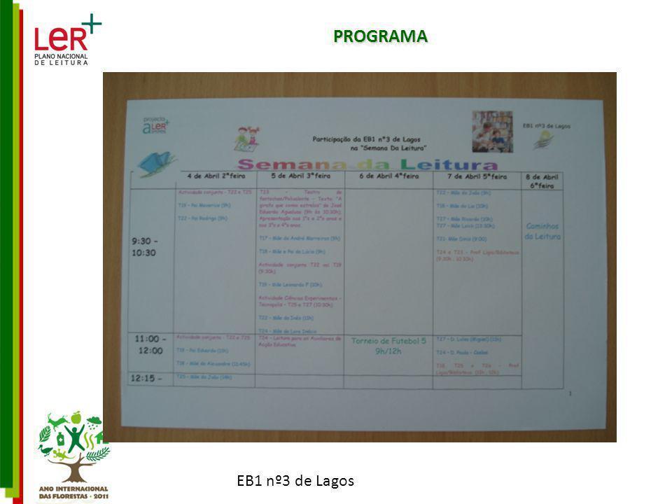 EB1 nº3 de Lagos PROGRAMAPROGRAMA