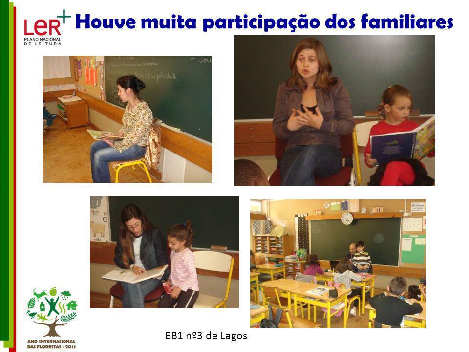 EB1 nº3 de Lagos Houve muita participação dos familiares Que no final receberam um diploma de participação