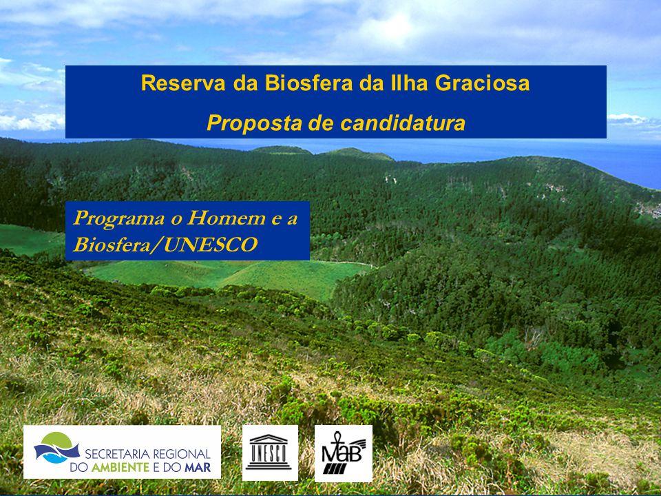 Reserva da Biosfera da Ilha Graciosa Proposta de candidatura Programa o Homem e a Biosfera/UNESCO