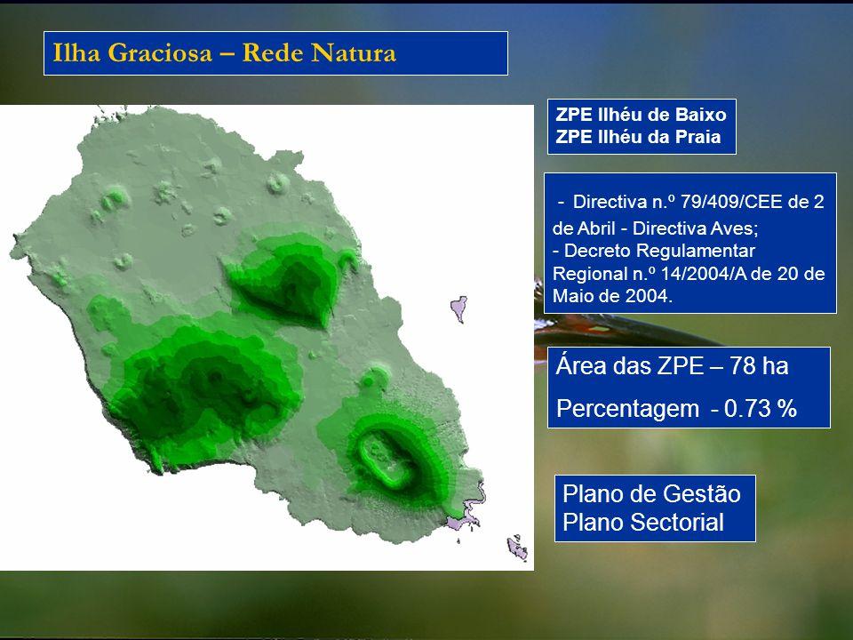 Ilha Graciosa – Rede Natura - Directiva n.º 79/409/CEE de 2 de Abril - Directiva Aves; - Decreto Regulamentar Regional n.º 14/2004/A de 20 de Maio de