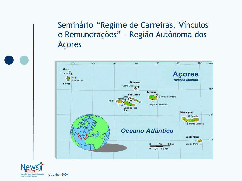 © Junho, 2009 Seminário Regime de Carreiras, Vínculos e Remunerações – Região Autónoma dos Açores