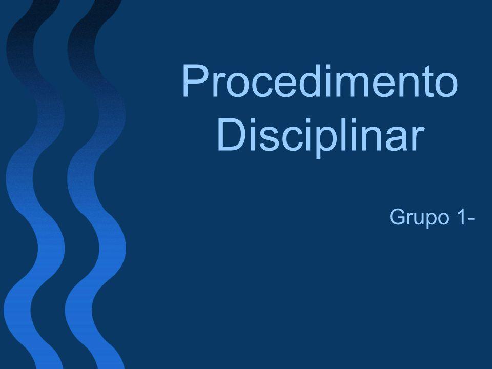 Procedimento Disciplinar Grupo 1-
