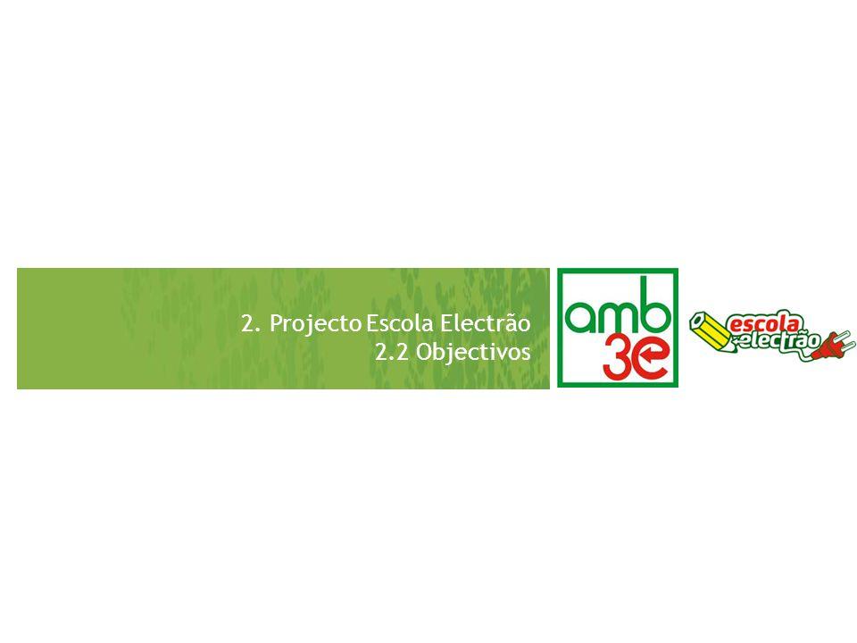2. Projecto Escola Electrão 2.2 Objectivos