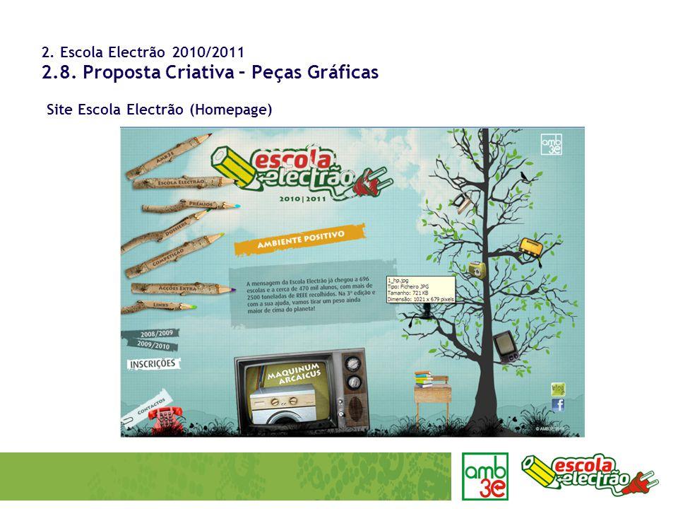 2. Escola Electrão 2010/2011 2.8. Proposta Criativa – Peças Gráficas Site Escola Electrão (Homepage)