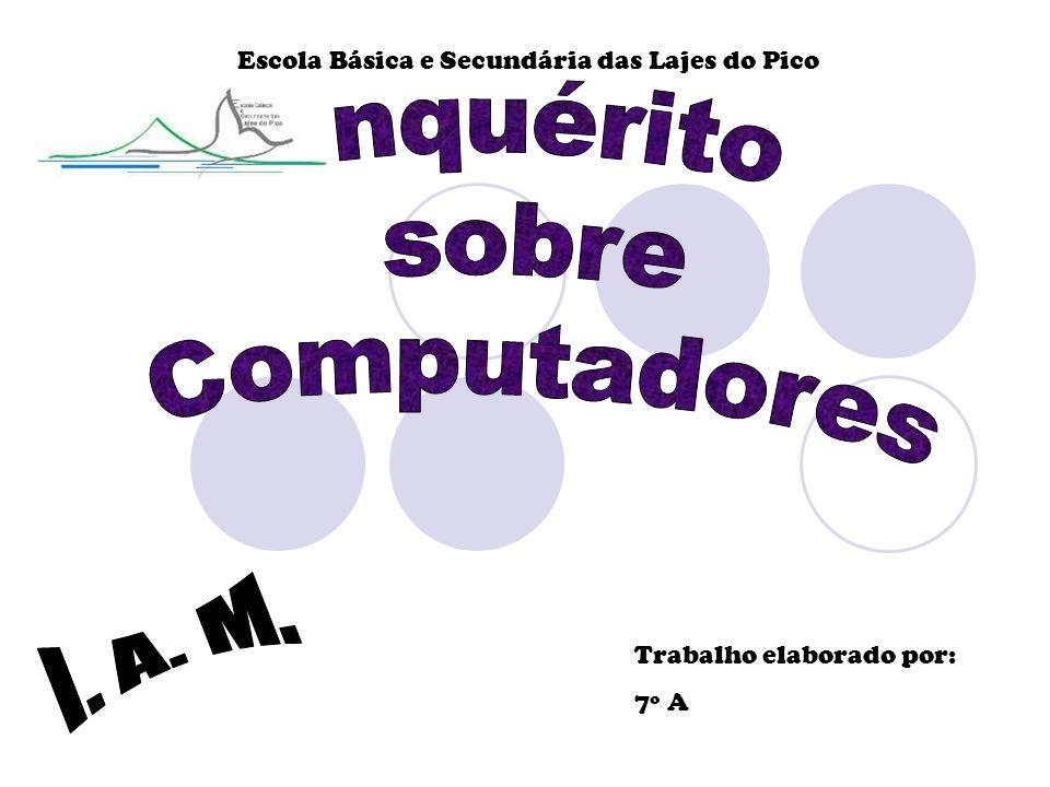 Escola Básica e Secundária das Lajes do Pico Trabalho elaborado por: 7º A