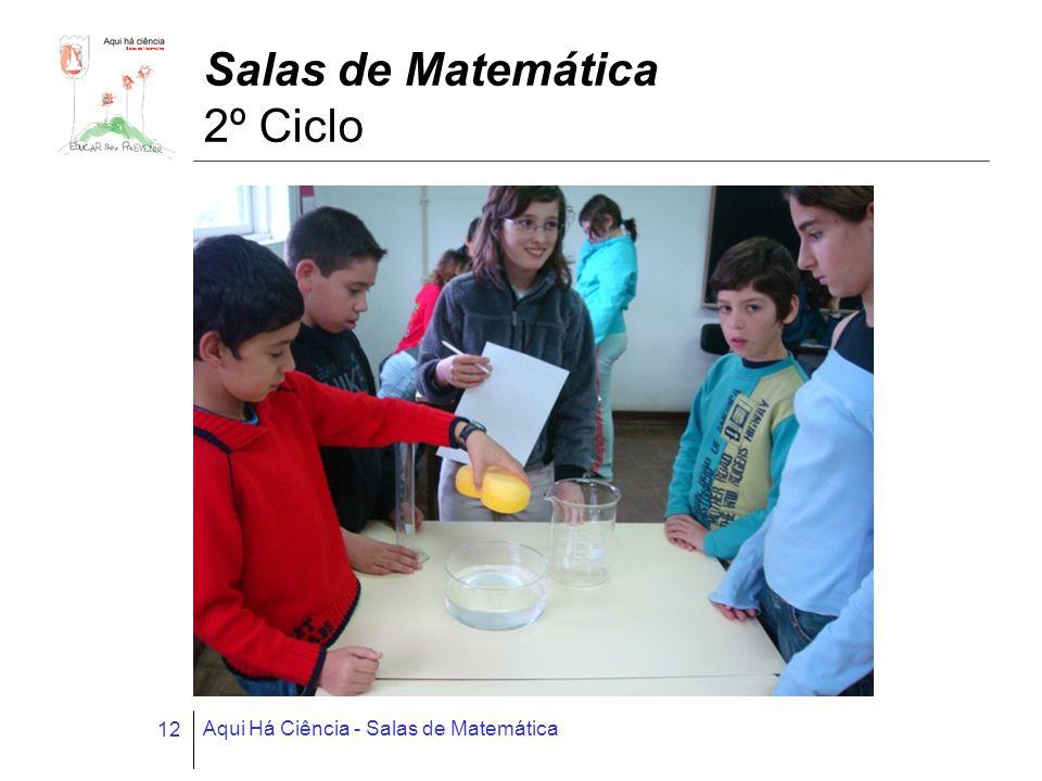 Salas de Matemática Aqui Há Ciência - Salas de Matemática 12 Salas de Matemática 2º Ciclo