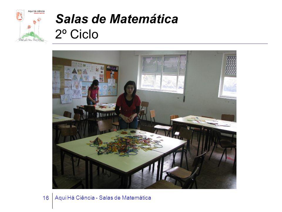 Salas de Matemática Aqui Há Ciência - Salas de Matemática 16 Salas de Matemática 2º Ciclo