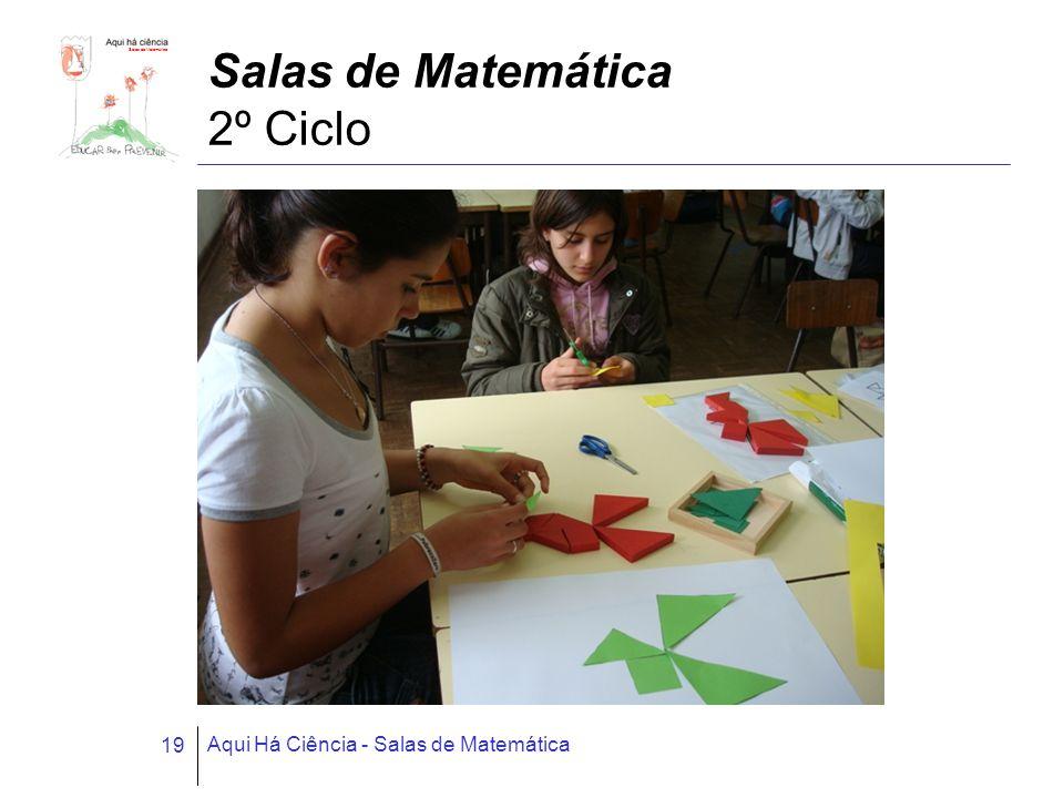 Salas de Matemática Aqui Há Ciência - Salas de Matemática 19 Salas de Matemática 2º Ciclo