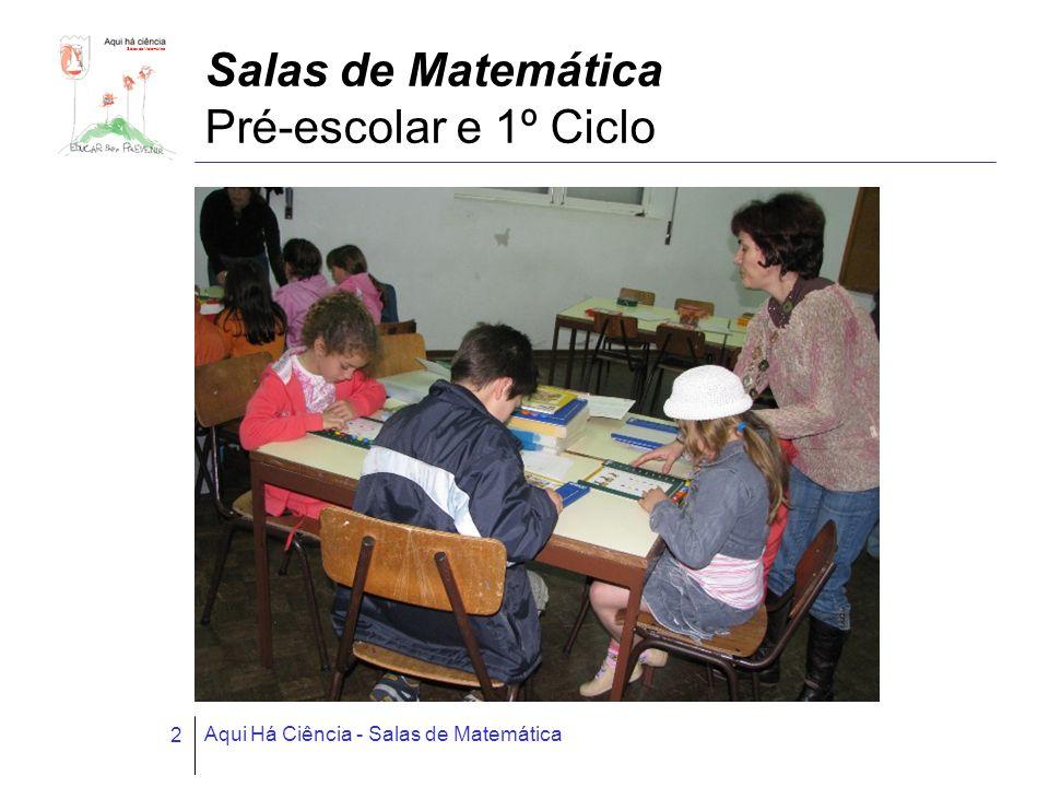 Aqui Há Ciência - Salas de Matemática 2 Salas de Matemática Pré-escolar e 1º Ciclo