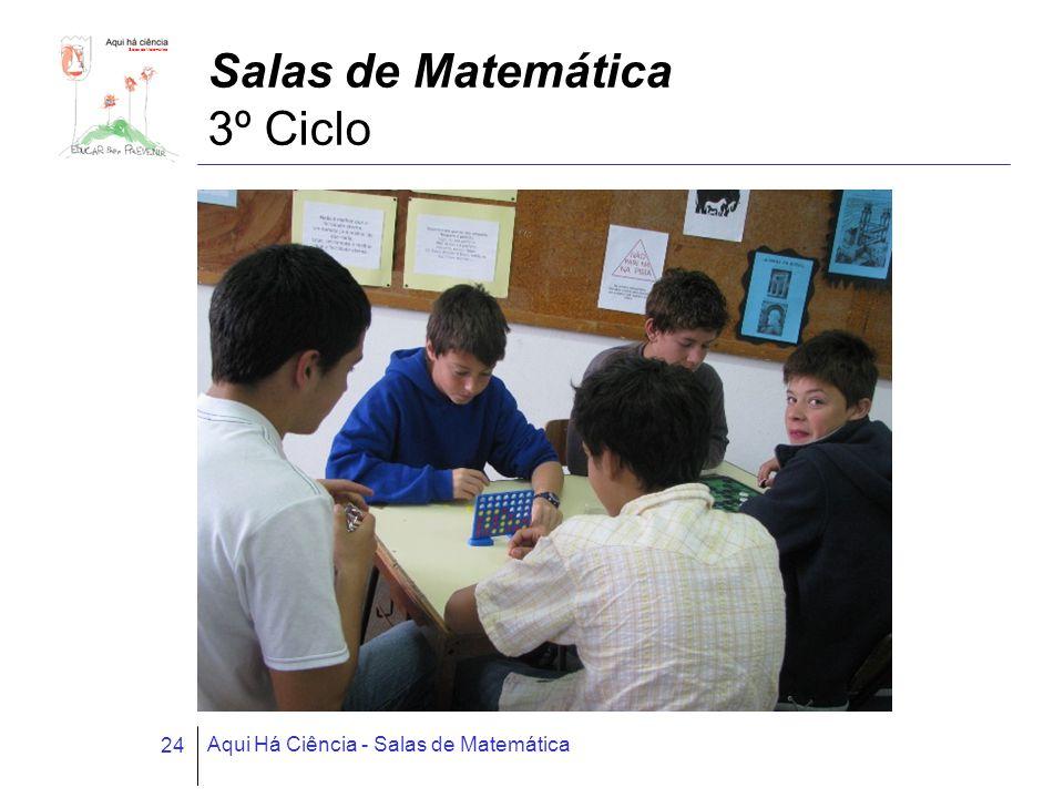 Salas de Matemática Aqui Há Ciência - Salas de Matemática 24 Salas de Matemática 3º Ciclo