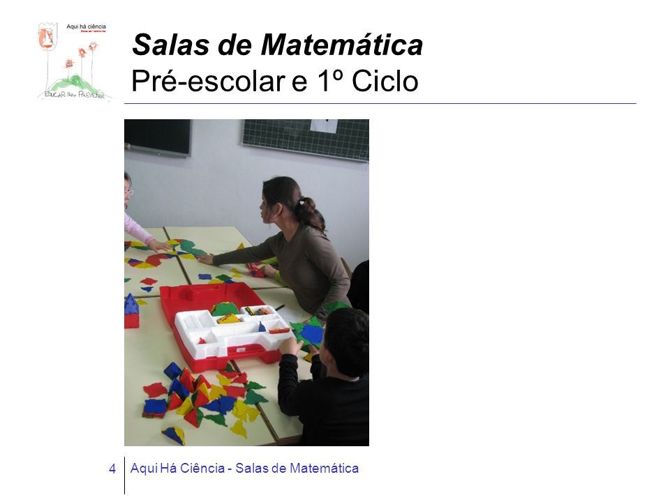 Salas de Matemática Aqui Há Ciência - Salas de Matemática 4 Salas de Matemática Pré-escolar e 1º Ciclo