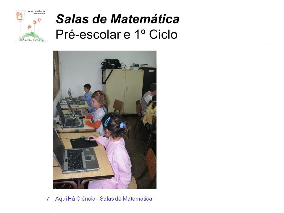 Salas de Matemática Aqui Há Ciência - Salas de Matemática 7 Salas de Matemática Pré-escolar e 1º Ciclo