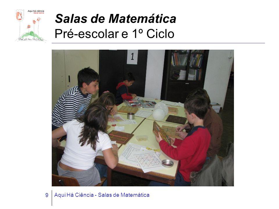 Salas de Matemática Aqui Há Ciência - Salas de Matemática 9 Salas de Matemática Pré-escolar e 1º Ciclo