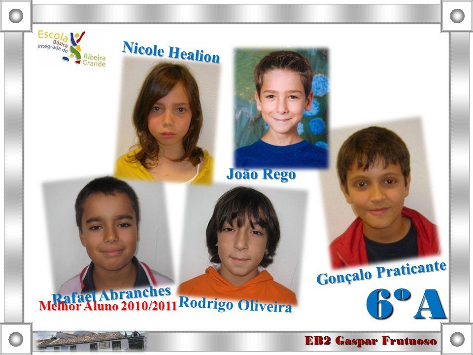 Gonçalo Praticante Nicole Healion Rafael Abranches Rodrigo Oliveira João Rego 6º A EB2 Gaspar Frutuoso Melhor Aluno 2010/2011