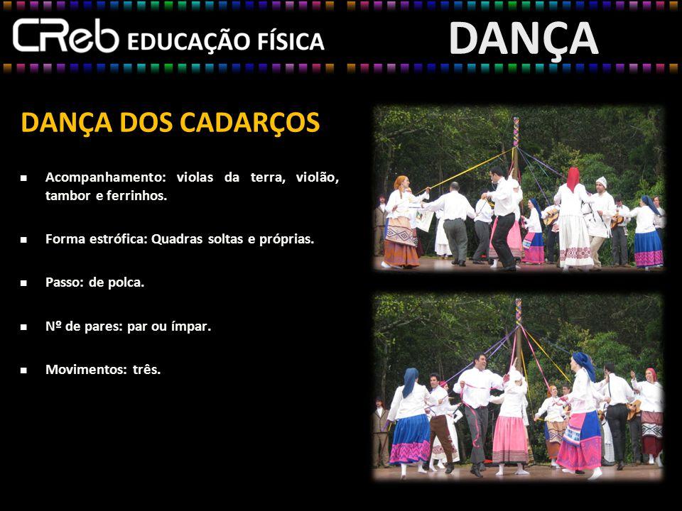 DANÇA DOS CADARÇOS Esquema da dança DANÇA